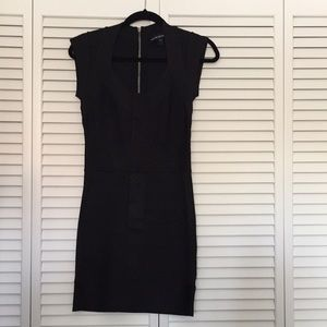 French Connection stretchy dress w/zippered back